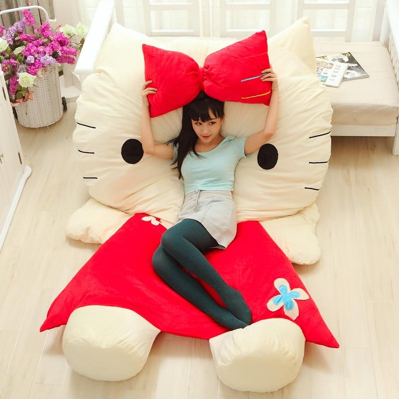 Luxury Huge Large Gift Lovely Hello Kitty Mattress Sofa Cushion Mat Soft Cartoon Totoro Bed Child