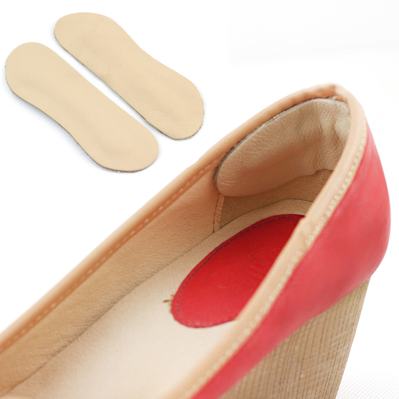 Wholesale 2pair/lot PU Leather Insoles Shoe Inserts Heel Liner Cushion Protector Foot Care Shoe Pads Grips