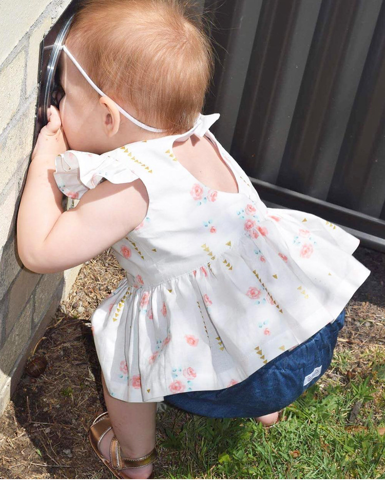 7d310ee57 Sweety Baby Girl Puff Sleeve Floral Dress Infant Summer Dresses 1 ...