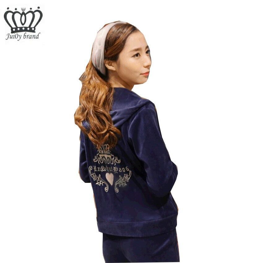Fashionable Pattern Velvet Tracksuit Women Long Sleeve Tops and Sweat Pants Set S-XXXL