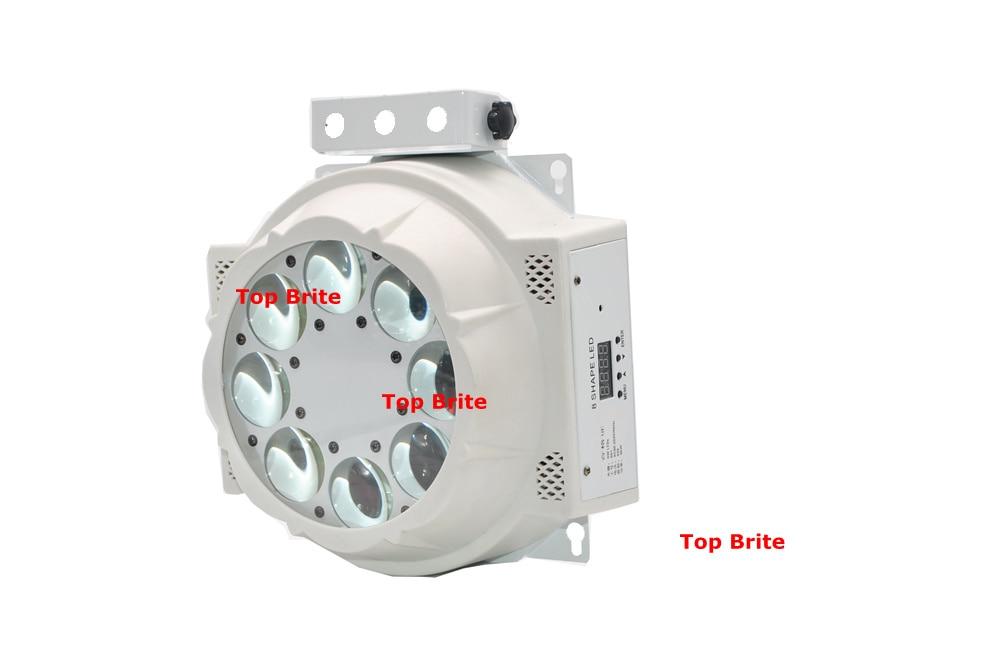 2XLot 8 * 3W Cree Led lampe 8 Øjne Mønster Lys RGBW 4 Farve Rotere - Kommerciel belysning - Foto 5