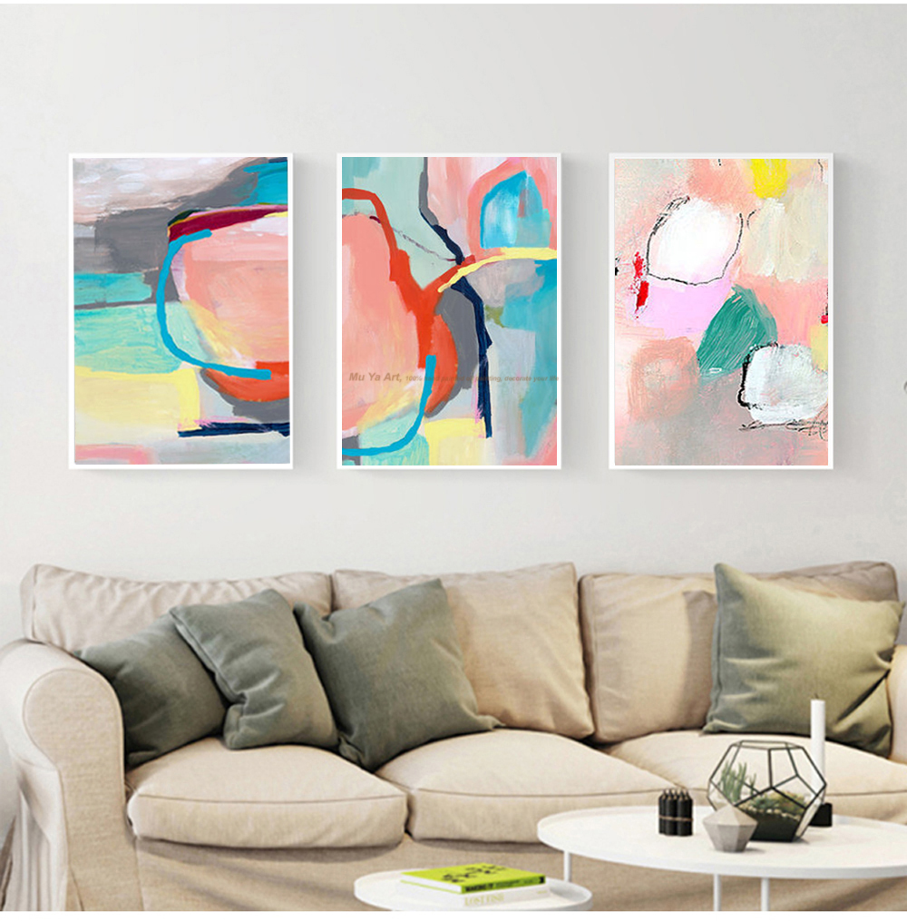 MUYA cheap modern paintings abstract decorative painting hand ...