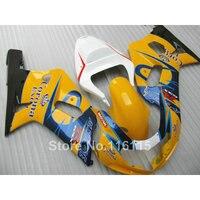 De plástico kit de carenado para SUZUKI GSXR600 GSXR750 K4 2004 2005 azul amarillo Corona carenados carrocería GSXR 600 750 04 05 A65