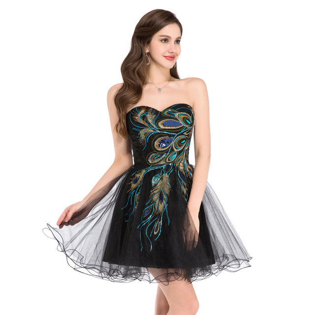 Peacock Short Prom Dresses