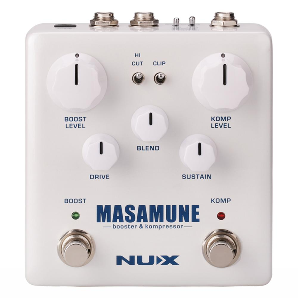 NUX Masamune Booster & Kompressor Electric Guitar Effects Pedal Sound-crafter Guitar Accessories Stompbox nux gp 1 electric guitar plug headphone amp