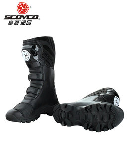 Image 3 - SCOYCO motorcycle riding Boots street automobile racing boots road Motocross riding shoes MBT012 size EUR42 US 8.5