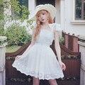 Vestidos de princesa dulce lolita BOBON21 hadas sólido estilo lindo vestidos sin mangas con encaje mixto/flores y arco D1370