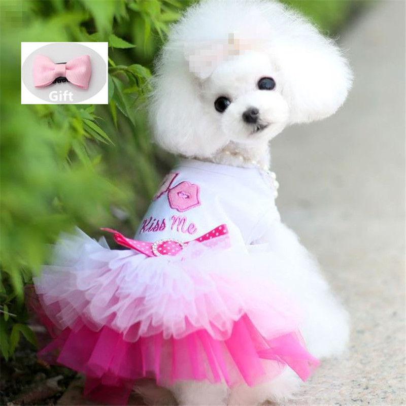 <font><b>Dog</b></font> Clothes for Small <font><b>Dogs</b></font> <font><b>Dress</b></font> Sweety Princess <font><b>Dress</b></font> Spring Summer Puppy Small <font><b>Dog</b></font> Lace Princess Chihuahua <font><b>Dog</b></font> Mascotas Roupa image