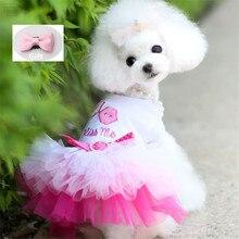Vestiti per cani per cani di piccola taglia vestito da principessa dolce primavera estate cucciolo piccolo cane pizzo principessa Chihuahua cane mascotte Roupa