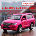 1:43 alloy pull back cars,high simulation Lexus LX570 model,2 open door,matte paint,metal diecasts,toy vehicles,free shipping