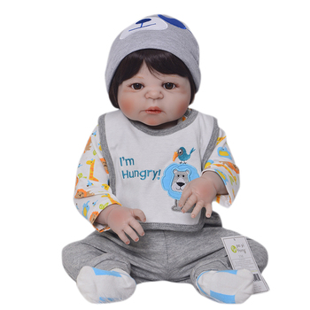 Realistic Boy Bonecas Reborn Babies Dolls For Sale Fashion Full Silicone Vinyl Baby Doll 23 inch Wear Clothes Bebes reborn Gift