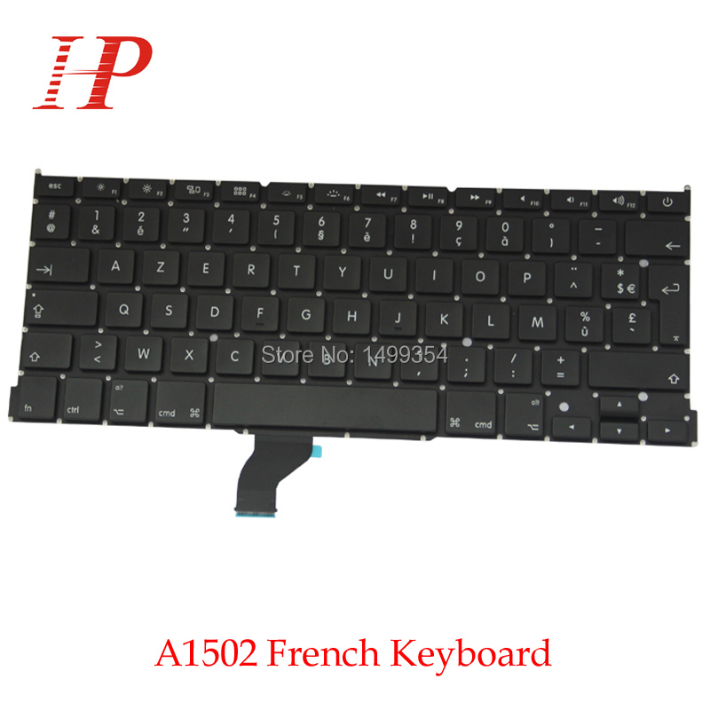 Original New A1502 French Keyboard For Apple Macbook Pro Retina 13'' Replacement
