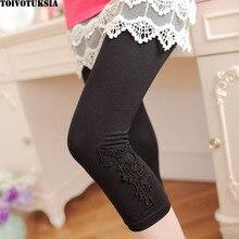 Short Leggings Mid Calf Modal Womens Legins Butterfly Lace Carved Seven Legging Fitness for Women