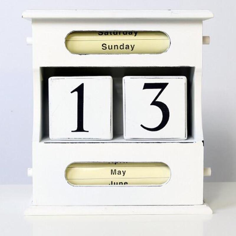 2019 Nortic Kreative Manuelle Schreibtisch Calendario Pared Büro Tisch Holz Kalender Home Dekorationen Schreibwaren Mädchen Geburtstag Geschenk Kalender