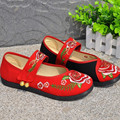 Chinese Embroidery Flower Women Flat Shoes Buckle Button Dancing Shoes Soft Shoes HSC31
