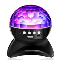 Colorful stage lights mobile phone wireless bluetooth speaker subwoofer TF card USB player holiday light portable FM radio MP3