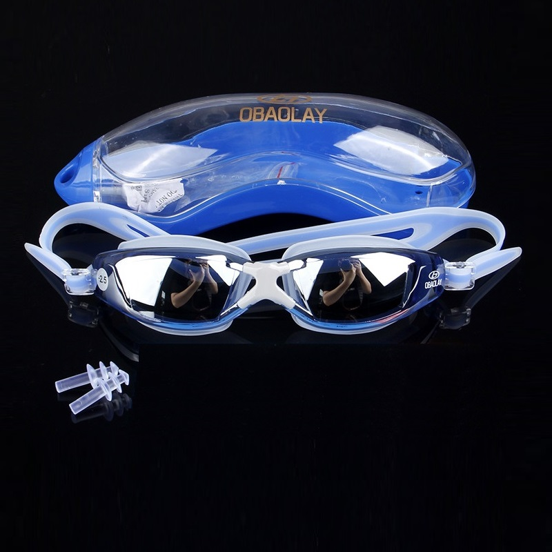 Men swimming glasses anti fog with Prescription lenses Swimwear Eyewear Swim Diving Water Glasses Gafas Adjustable Swimming in Eyewear Accessories from Apparel Accessories