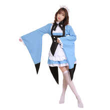 Brdwn RE Zero Womens Emilia Ram Rem Life in a Different World from Zero Cosplay Costume Apron Dress anime re life in a different world from zero emilia cosplay clothes dress emilia cosplay costume set halloween day for women