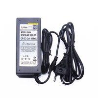 12.6 v 3A  carregador de bateria de 12.6 v para CCTV  carregador para 12 3A v 12 v carregador de bateria De Lítio