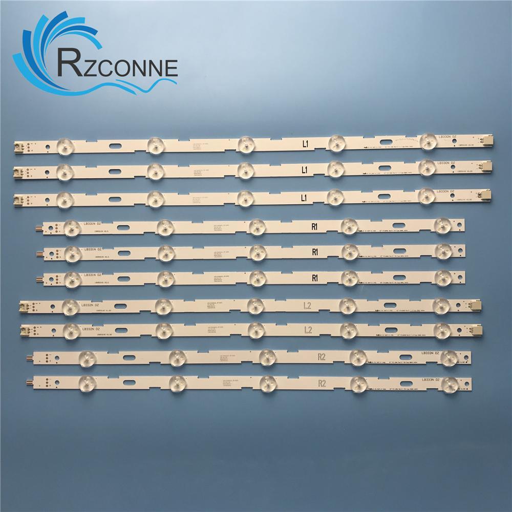 LED Backlight Strip 10 Lamp For 42LN5204 42LN5200 6916L-1402A 6916L-1403A 6916L-1404A 6916L-1405A 42
