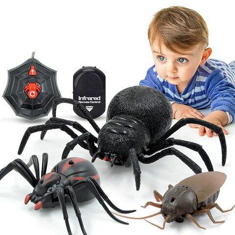 brinquedos de controle remoto infravermelho inseto simulacao formigas aranha baratas brinquedo rc eletrico presente do
