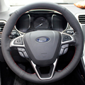 Case for Ford Mondeo 2013 Car steering wheel cover Genuine leather Anti-sliip Car styling wheel cover DIY decoration