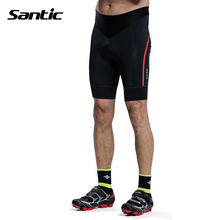 Santic Cycling Shorts Men Black Mountain Bike Shorts Cycling bermuda Bicycle Underwear MTB Tights Culotte Cycling Downhill 40