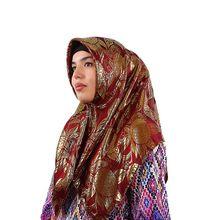 Dame Seide Jacquard Platz Hjiabs Muslimischen Schal Turban Ultraleicht Retro Schal Türkische Hijab Frauen Islamisches Kopftuch Fabrik Outlet