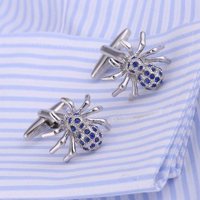 Vagula Funny Cufflinks Shirt Spider Pattern Father's Day Cuff Link Wedding Cuffs 207