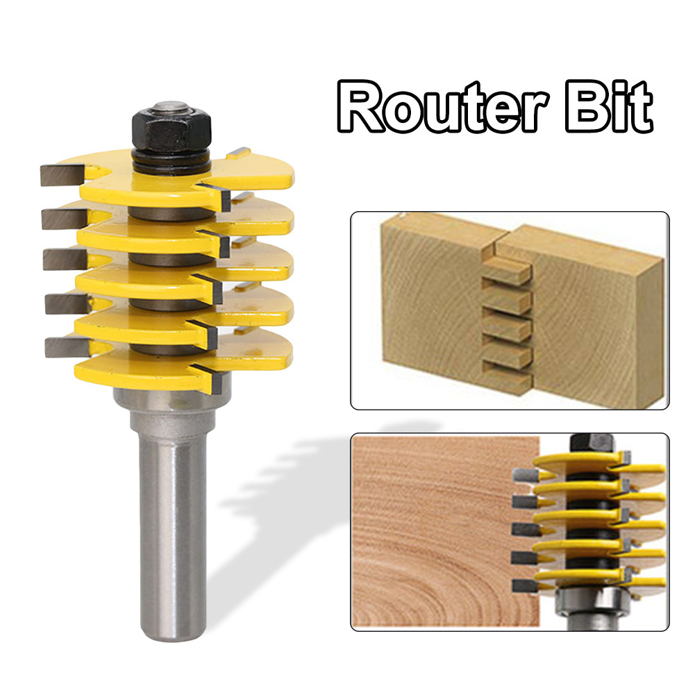 1/2 Shank Box Joint Router Bit Adjustable Woodworking Full Split Finger Splice Blade Cutter carpentry woodworking 1 2 shank core box router bit