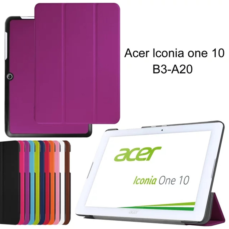 Magnet Stand pu leather Case cover For Acer Iconia One 10 B3-A20 B3 A20 10.1 tablet case for acer B3-A20 Protective shell+stylus
