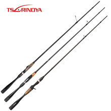 TSURINOYA AGILE 2.01 m Spinning Fishing Rod 2 ส่วน Fast Action Power ML FUJI คู่มือและเบาะตกปลา tackle Rod