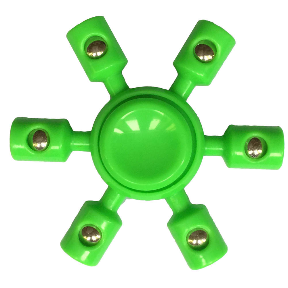 Multicolor Spinner Fidget Fingertips Spiral 6 Arm Plastic Spinner Hand Toy For Child And Adult Relieve Anxiety Funny Gift ...