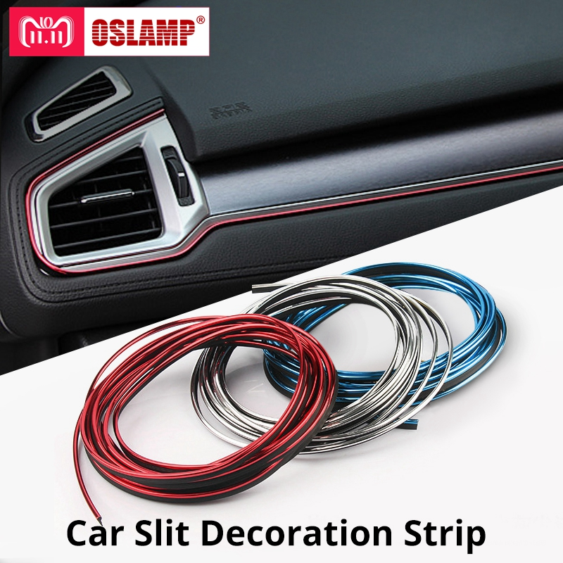 Oslamp 5M Car Styling Interior Exterior Decoration Strips Moulding Trim Dashboard Door Edge Universal For Cars Auto Accessories car pendant handicraft dreamcatcher feather hanging car rearview mirror ornament auto decoration trim accessories for gifts 30cm