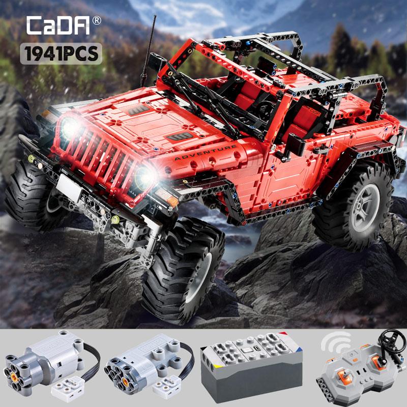 Technic Remote Control 2.4G Adventurer Car 1941pcs Building Blocks Set