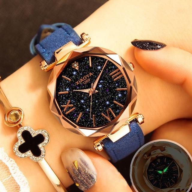 Starry Sky Watch Luxury Watch Women Leather Ladies Quartz Wrist Watch Fashion Casual Clock Female Waterproof Relogio Feminino 5
