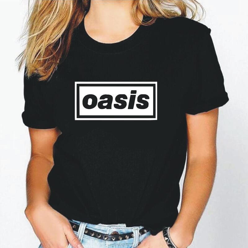 Oasis Letter Print Women Tshirt Harajuku Fashion Shirt Tee Shirt Femme Summer Hipster Casual T Shirt Women Tops Camisas Mujer