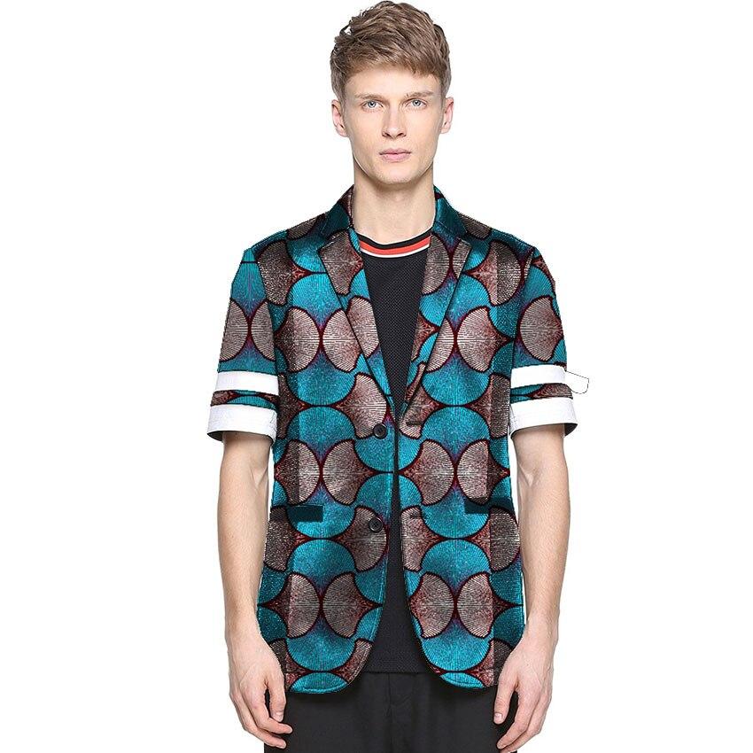 À Imprimer 6 Manches Ankara Hommes Pour Blazer Personnalisé Courtes Homme Blazers Costume 2 5 La Africain Mode 3 De Patchwork Collecte 4 Veste 1 w1YX8Sq