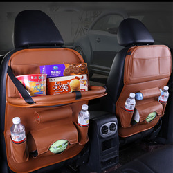 Back Seat Car Organizer Floding Table Bag Storage Kid Drink Eat Phone Pad Travel Stowing Tidying Boxes Pocket Auto Accessoires
