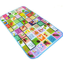Single Side Baby Cartoon Play Mat Fruit Alphabet Castle Park Printed Infant Crawling Rugs Children Puzzle Colorful Long Carpets(China)