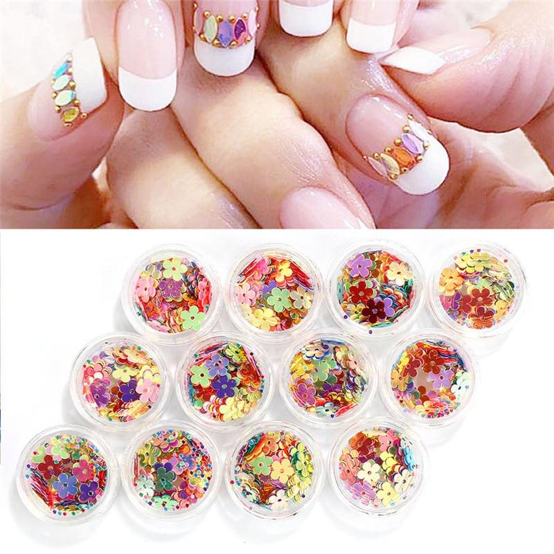 Hot Sale 12colors 1 Box Shinning Nail Art Powder Nail Acrylic Powder