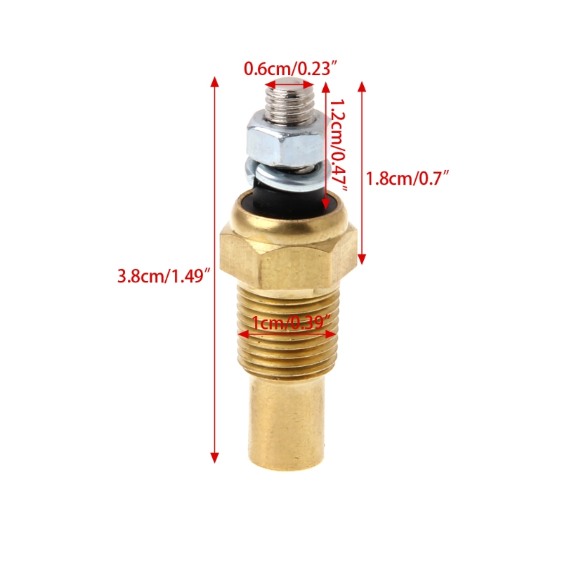2019 New Hot New 1 Pc 1/8 NPT Temperature Temp Sensor Water Oil Unit Sender Gauge Electric Sender VDO High Quality