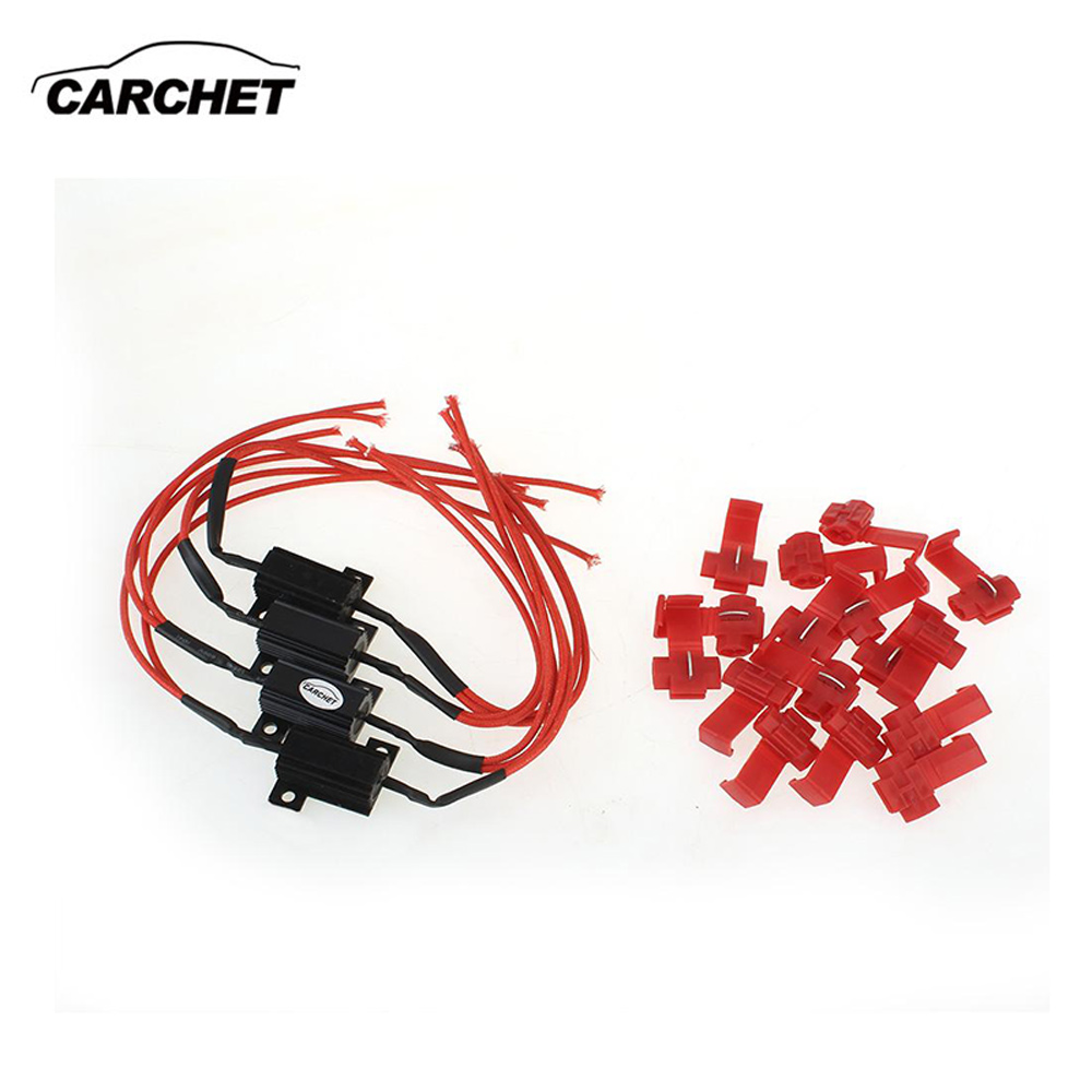 CARCHET 4шт сигнала поворота СИД света резистор 25 Вт 6.8 ом для мотоцикла 12V автомобиля диагностический инструмент с 16 соединения Кран Бесплатная доставка