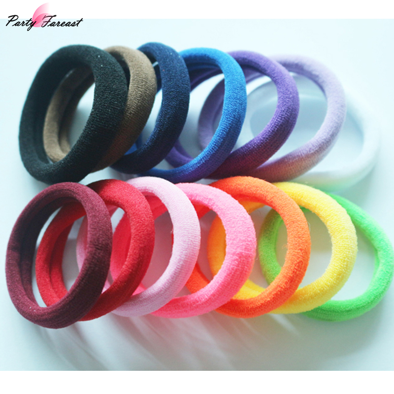 20Pcs Fashion Korean Hair Rings Colorful Polyester Hairband for Women Girls Hair Decoration Accesorios Ornaments Para El Cabello