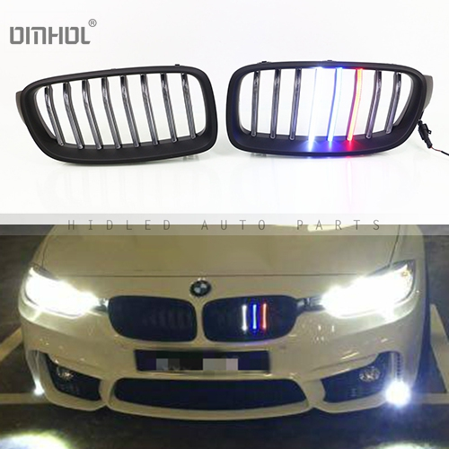 Us 220 0 For Bmw F30 F35 3 Series F10 F18 5 Series Front Grills With 3 Colors Led Lights As M Style In Racing Grills From Automobiles Motorcycles