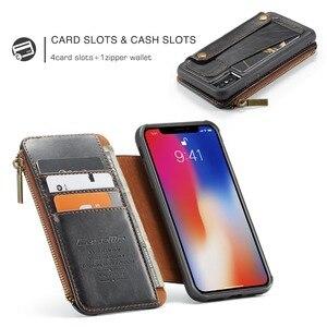 Image 5 - Étui portefeuille en cuir pour iPhone 11 Pro poche à glissière fentes pour cartes de crédit couverture arrière pour iPhone XS MAX X XR 7 Coque