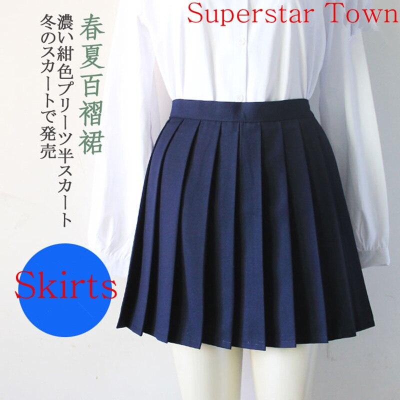 Japonijos mokykla mergaičių vienoda kieta plakiruota mini sijonas - Moteriški drabužiai - Nuotrauka 2