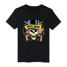 GUNS N ROSEN Schwarz Punk Sommer Baumwolle T-shirt Männer Kurzarm T-shirt und Rock Band T Shirt Männer Hip Hop in 4XL T-shirts