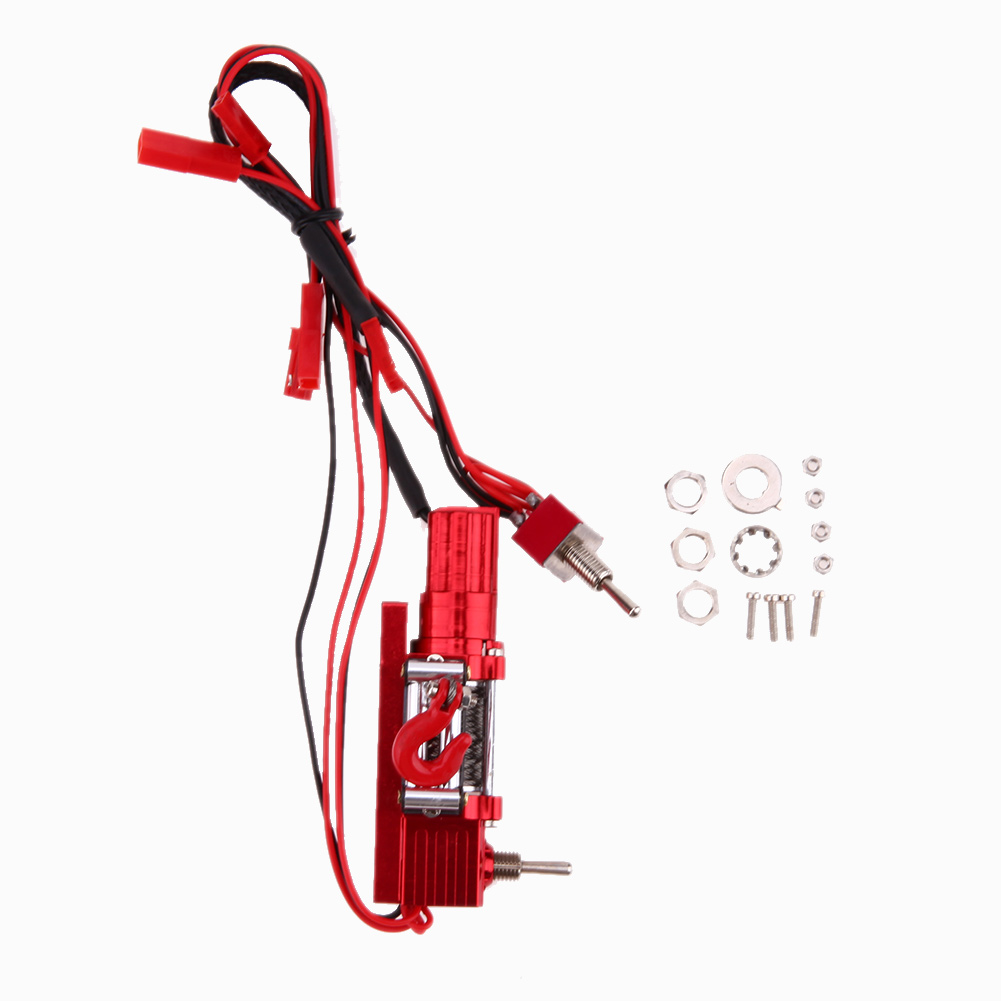 1:10 Metal Steel Wired Automatic Winch for RC Rock Crawler Axial SCX10 RC4WD D90 RC Action Figure Rc Car Toys Accessory&Props