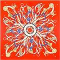 Nueva Bufanda de Invierno de Moda Rosa Roja Patrón de la Cadena de Transporte Marca Bufanda Mujeres Chal de Seda de Lujo Bufandas 100 cm * 100 cm SH15102255